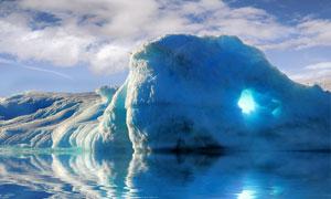蓝天白云冰山自然风光摄影高清图片
