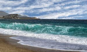 蓝天白云风浪大海风光摄影高清图片