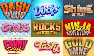 10款游戲主題風格的文字設計PS樣式