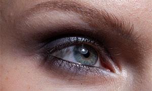 人物明亮眼睛特写修图摄影原片素材