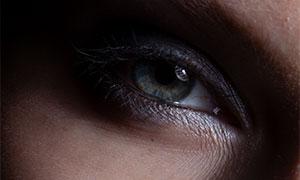 人物面部眼睛特写摄影原片素材