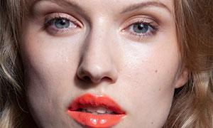 卷发造型浓妆美女人物摄影原片素材