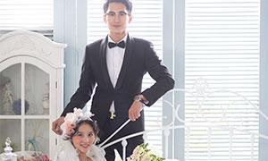 室内实景婚纱摄影主题高清原片素材
