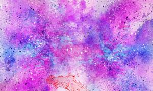 炫丽缤纷水彩元素抽象背景高清图片
