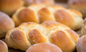 香甜可口面包近景特写摄影高清图片