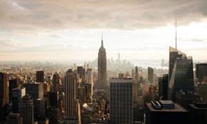 高楼林立的纽约城市建筑物高清图片