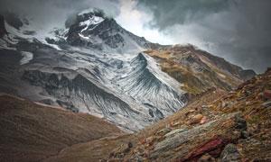 天空云彩山间自然风光摄影高清图片