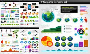 炫彩立体质感统计图表创意矢量素材