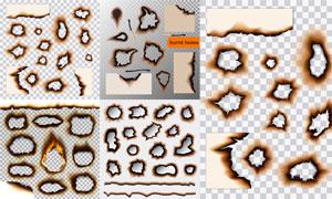被火灼烧过的纸主题设计矢量素材V02