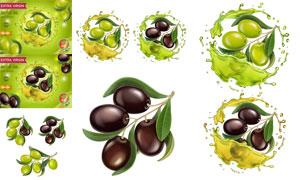 ?#30690;?#27204;榄与橄榄油广告设计矢量素材