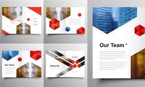 几何多边形元素的画册版式og视讯娱乐城