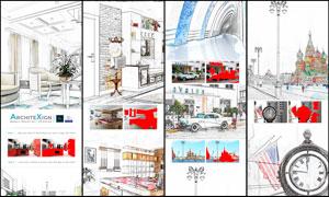 建筑物轉現代素描藝術效果PS動作