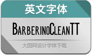BarberinoCleanTT(英文字体)