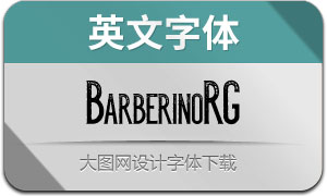 BarberinoRG-Regular(英文字体)