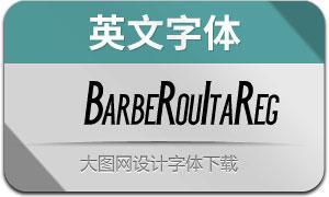 BarbeRouItaReg(英文字体)