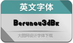 Berunov3dblack(英文字体)