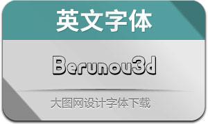Berunov3d(英文字體)