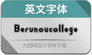 Berunovcollege(英文字體)