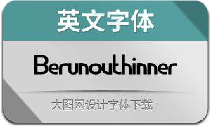 Berunovthinner(英文字体)
