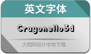 Crayonello-3d(英文字体)
