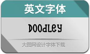 Doodley系列6款英文字體