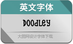 Doodley系列6款英文字体