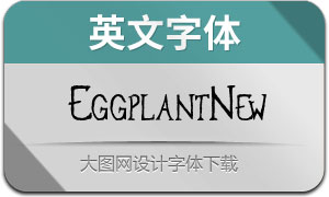 EggplantNew-Regular(英文字体)