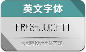 FreshjuiceTT-Regular(英文字體)