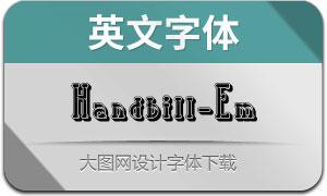 Handbill-Embossed(英文字體)