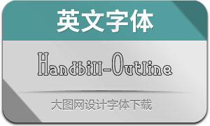 Handbill-Outline(英文字体)