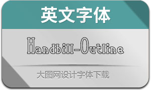 Handbill-Outline(英文字體)