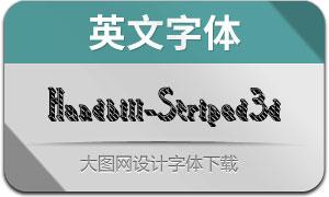 Handbill-Striped3d(英文字體)