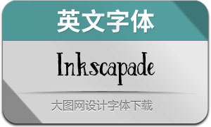 Inkscapade-Regular(英文字体)