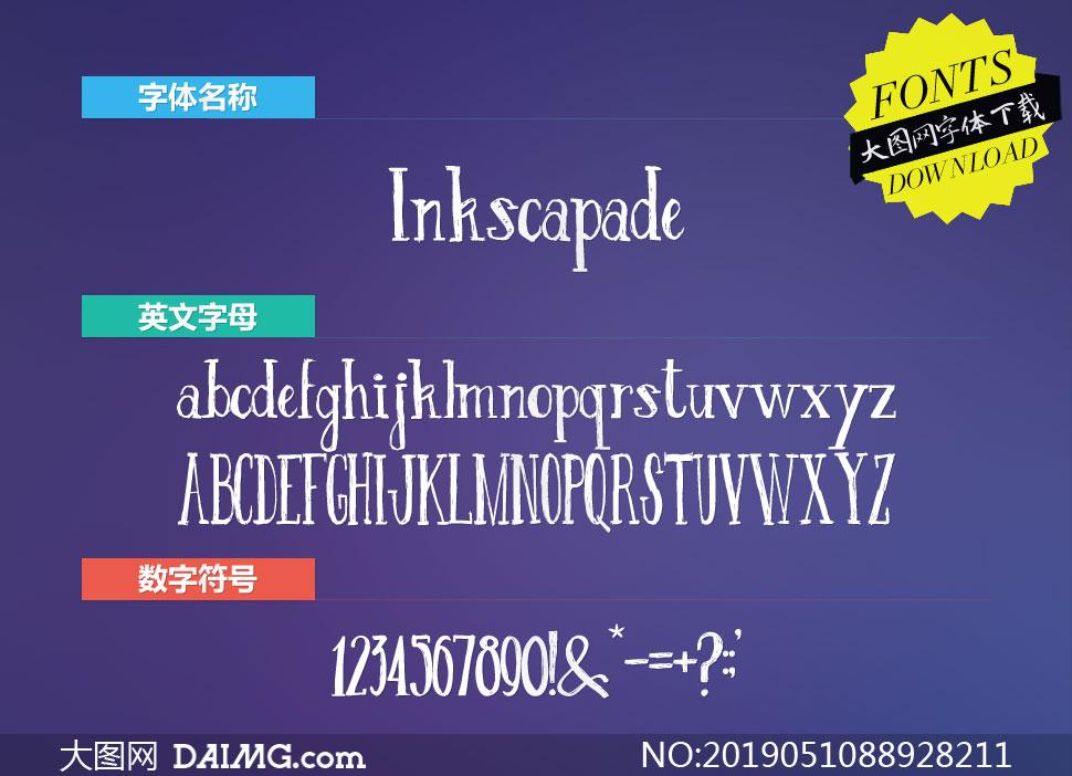 Inkscapade-Regular(英文字体)