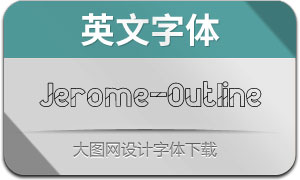 Jerome-Outline(英文字体)