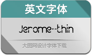 Jerome-thin(英文字体)
