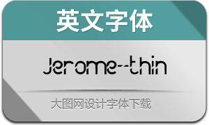 Jerome-thin(英文字體)