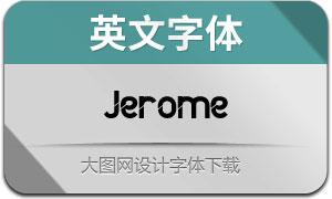 Jerome(英文字體)