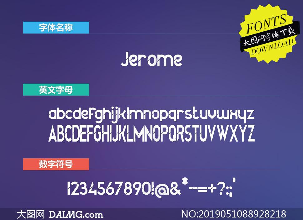 Jerome(英文字体)