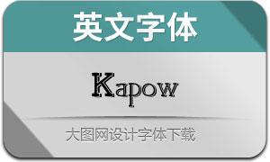 Kapow(英文字体)