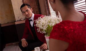 室内婚纱摄影人像主题原片大图素材