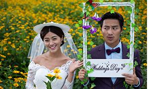 可爱俏皮风格婚纱摄影高清原片素材
