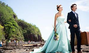 外景婚纱人物摄影调色修图原片素材