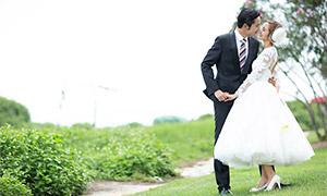 田野花草外景风光婚纱摄影原片素材