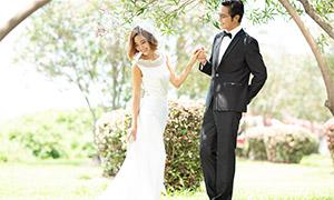 外景风光韩式风格婚纱摄影原片素材