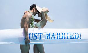 泳装服饰情侣人物写真摄影原片素材