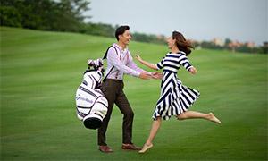 树木球场外景摄影婚纱主题高清原片