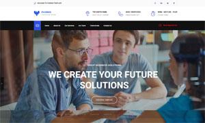 商务类型公司网站页面版式设计模板