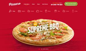 线上下单订购美食网站设计分层模板