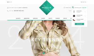 服饰产品电子商务网站页面分层模板